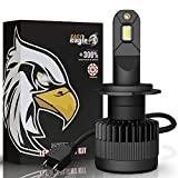 H7 LED Motorcycle Headlight Bulbs, Easy Eagle 6000Lumens Extremely Bright Conversion Kit CSP Chips 6500K Cold White (Pack of 1)