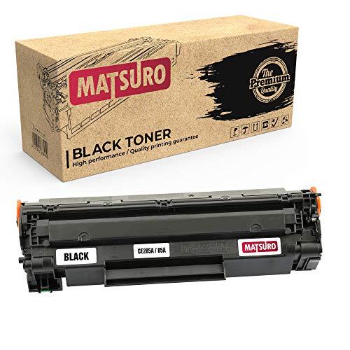 Matsuro Original | Compatible Cartucho de Toner Reemplazo para HP CE285A 85A (1 Negro)