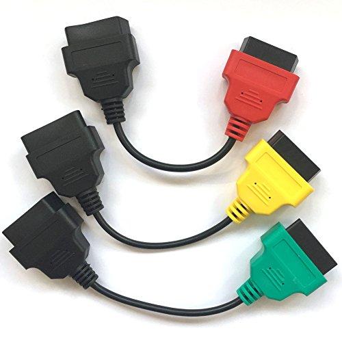 hr-tool ® OBD führen Adapter OBDII Diagnosekabel-Kabel, FiatECUScan Kabel Adapter für Motor ECU, Airbag, ABS, Servolenkung & können; für Italien Autos