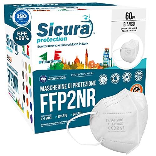 60 Mascherine FFP2 Certificate CE Made in Italy BFE ≥99% Mascherina ffp2 italiane SANIFICATA e sigillata singolarmente. Pluricertificata ISO 13485 e ISO 9001 EN 149:2001+A1:2009