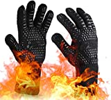 OrgaWise Guantes Barbacoa BBQ Gloves Extremadamente Resistentes hasta 1472 ℉ / 800 ℃,...