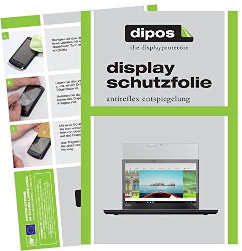 dipos I 2X Schutzfolie matt kompatibel mit Lenovo ThinkPad T470 Folie Bildschirmschutzfolie