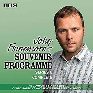 John Finnemore's Souvenir Programme: Series 6     BBC Radio 4 comedy sketch show              By:                                                                                                                                 John Finnemore                               Narrated by:                                                                                                                                 Carrie Quinlan,                                                                                        Margaret Cabourn-Smith,                                                                                        John Finnemore,                   and others                 Length: 2 hrs and 47 mins     193 ratings     Overall 4.9