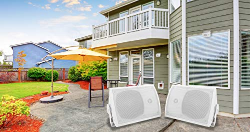 Fantastic Prices! Pair Rockville HP5S 5.25 Outdoor/Indoor Home Theater Speakers w/Swivel Bracket