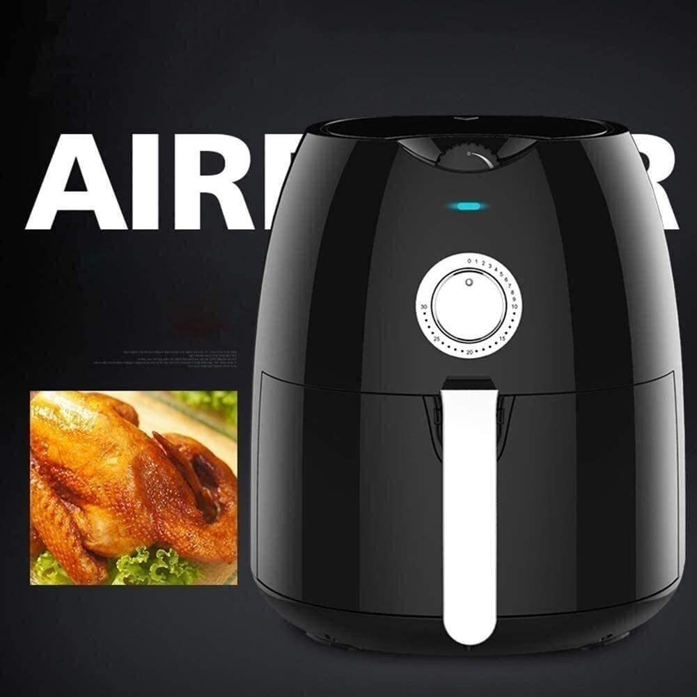 4,5 Quart Air Fryer met de hand instelbare Oven - Bak, Broil, Dehydrateer and More - Vaatwasserveilig Accessoires (Color GDSZMMLS (Color : Black) White