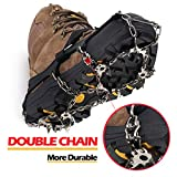 EnergeticSky Ice Cleat Black19-L Upgraded Version of Walk Traction Ice Cleat Crampons, Black