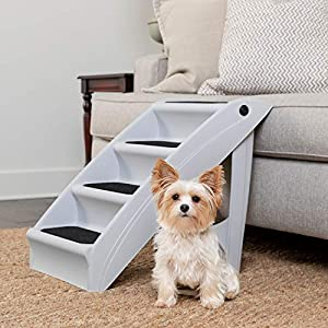 PetSafe CozyUp Folding Pet Steps – Foldable Stairs for Dogs and Cats – Best for Small to Large Pets – Large, Grey