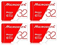 microSD カード 32GB class10 + SDアダプター (4個 microdata 赤白)