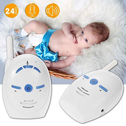 Digital Audio Babyfoon, 2,4 GHz Draadloze Infant Audio Monitor Ondersteuning 2-weg Audio Voice Monitoring Huilen Alarm Intercom For Baby Veiligheid (wit)