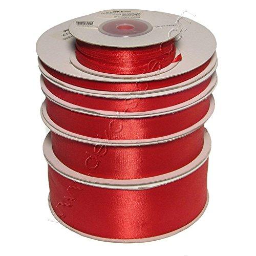 Doppio Raso 25 mm Rosso x 50 mt - Satinato
