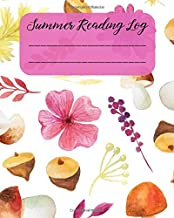 Summer Reading Log: Reading Log Gifts for Book Lovers with Summer Flower Floral Design
