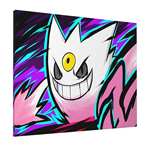 Pokmon Shiny Mega Gengar Painting Abstract Prints On Canvas Art For Living Room Wall Picture Home Decor 16x20inch