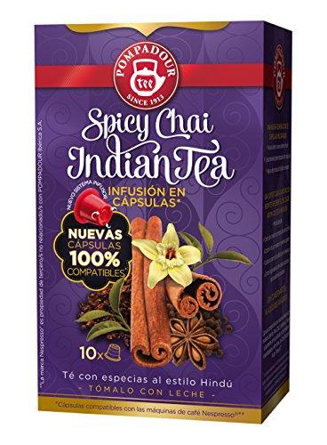 Pompadour Spicy Chai Indian Té - 10 Cápsulas