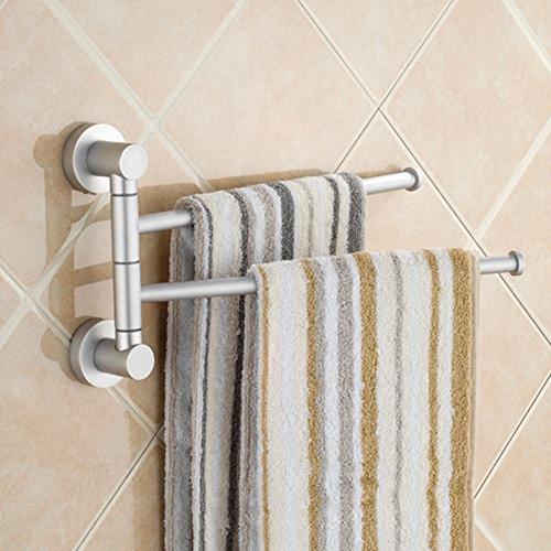 Toallero de actividad de aluminio para colgar en la pared, barra de toallas de baño, izquierda y derecha, dos barras de 31,5 x 18 cm