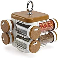 Medigo 360 Degree Revolving PlasticMultipurpose Spice Rack, Masala Box, Spice Box, Masala Rack for Home and Kitchen (8...