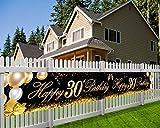 HOWAF Extra Lange Banner für 30. Geburtstag Dekoration