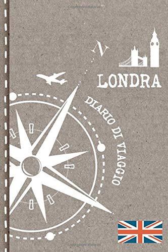 Londra Diario di Viaggio: Journal dotted A5 per Scrivere Appunti, Disegnare, Ricordi, Quaderno da Disegno, Dot Grid Giornalino, Bucket List – Libro Attività per Viaggi e Vacanze Viaggiatore