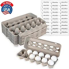 MADE IN THE USA: Our sustainable egg cartons are made from recycled newspaper and 100% reclaimed fibers. Designed with small windows for displaying your eggs, our cartons can fit eggs sized small, medium, large and extra large to be used for duck egg...