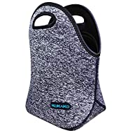 Lunch Boxes Neoprene Small Lunch Bag by KOKAKO Tote Washable Insulated Waterproof for Men Women Kids(DarkGray)
