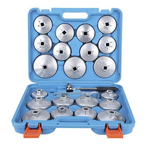 Llave de tapa de filtro de aceite, juego de llaves de filtro de aceite de 23 piezas, para adaptador de removedor de filtro de aceite