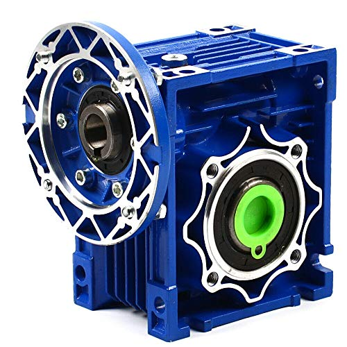 GUANG Worm Gear Gearbox, NMRV050 80B14 60:1 Speed Ratio Worm Gear Speed Reducer Motor Single Step Reducer 1400r/min for Router Lathe
