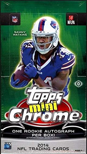 2014 Topps Chrome Mini Football Hobby Box (24 Packs/Box, 4 Cards/Pack, One Mini Rookie Autograph Card/Box plus more inserts) - In Stock!!