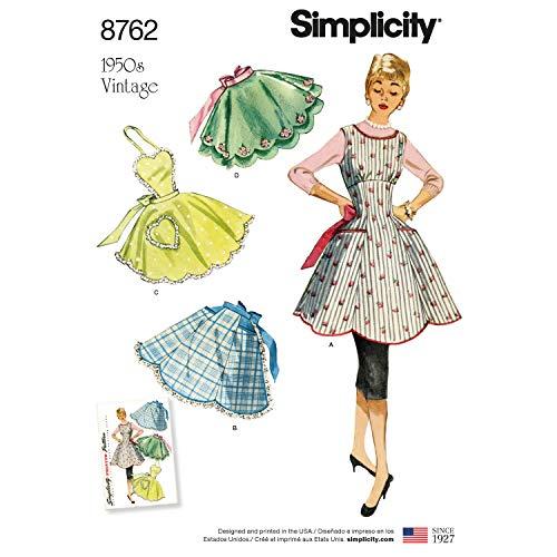 Simplicity UV4858OS Schnittmuster 1950er Jahre Vintage Fashion Tee-Schürze, Größen S-L