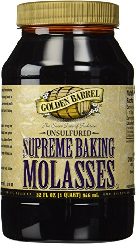 Golden Barrel Unsulphured Supreme Baking/Barbados molasses, 32 Ounce
