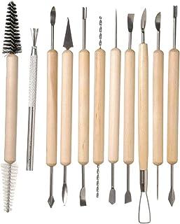 HO2NLE 20pcs Set de Herramientas de Modelado de Arcilla para Esculpir Ceramica Herramientas de Escultura para Modelar Sculpting Tools Buriles para Manualidades Profesionales o Principiantes