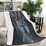 Unicorns Farting Flannel Fleece Blanket Premium Extra Long Mortal-Kombat-Raiden-Lightning-Black- Living Room Blanket Beach Blanket