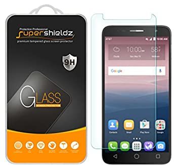 2 Pack  Supershieldz Designed for Alcatel Onetouch Allura Tempered Glass Screen Protector 0.33mm Anti Scratch Bubble Free