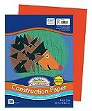 SunWorks Construction Paper, Orange, 9' x 12', 50 Sheets