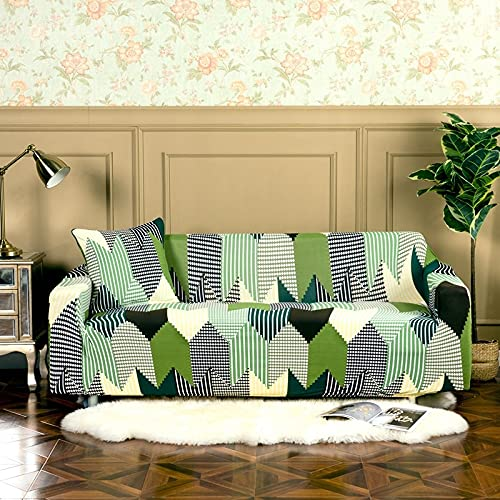 Afervor Europe Style Funda de sofá elástica Tight Wrap Funda de sofá elástica Universal para sofá seccional Individual Doble de Tres Asientos A10 2 plazas