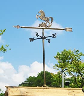 Solid Brass Horse Weather Vane for Roof