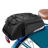 Hebey Bolsa para maletero de bicicleta de 8 l para sillín de bicicleta