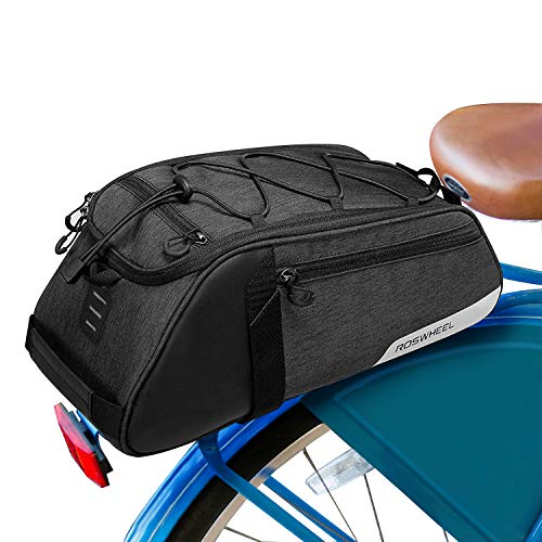 Hebey Bike Trunk Bag 8L Bicycle Seat Pack Panniers Bag for Rear Rack...