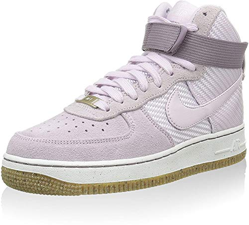 Nike Damen WMNS Air Force 1 Hi PRM Hightop Sneaker, Flieder, 38.5 EU
