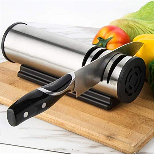 XISH Knife Sharpeners Best, Knife Sharpening Stone Multifunctional Automatic Knife Sharpener Kitchen Sharpening Stone Tools for All Kinds of Kitchen Knives