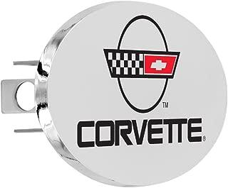 Chevy Metal Trailer Hitch Cover Plug, C4 Corvette Design Hitch Cover