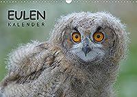 Eulen-Kalender (Wandkalender 2022 DIN A3 quer): Faszinierende Portraits und Flugaufnahmen europaeischer Eulen (Monatskalender, 14 Seiten )