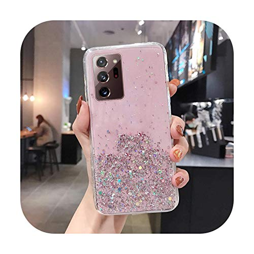 Luxury Bling Glitter Wristband Silicone Phone Case For Samsung Galaxy S20 FE S10 S9 Note 20 10 9 8 Plus Ultra-thin Lanyard Cover-Pink Without Rope-ForGalaxyNote20Ultra
