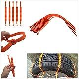Catene da neve aderenti allo pneumatico facili da installare e da rimuovere, 10 pezzi, adatte per pneumatici da 175 a 295