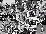 Gimnasio Arnold Schwarzenegger Póster Set Motivacional Arte de la pared Fitness Entrenamiento Pintura Culturismo Lienzo Impresiones Gimnasio en casa Decoración Imagen 40x60cm Sin marco