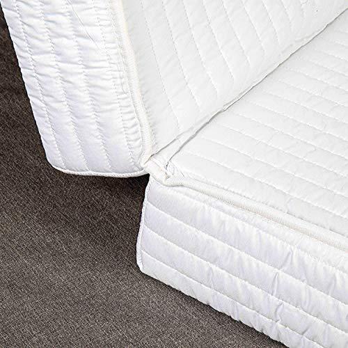 Evergreenweb Matelas pour canapé 120x190 cm lit avec 2 Plis pour Banquette B.Z. Épaisseur 10 cm, revêtement Blanc hypoallergénique, avec Lacets de Fixation - Matelas d'appoint Pliant en Mousse