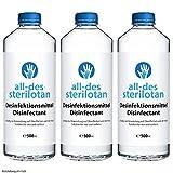 Sterilotan - Zur Anwendung auf Händen und Oberflächen - Für unterwegs & zuhause (3 Flaschen)