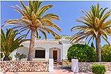 N\A Kits De Pintura De Diamante 5D Taladro Completo Typical Spanish Villa House In Town of Ciutadella Menorca Balearic Islands Spain Mosaico De Bordado De Diamantes De Punto De Cruz Bricolaje 30X40Cm