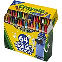 64-Count Crayola Ultra Clean Washable Crayons