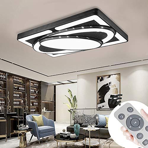 MIWOOHO 90W Dimmbar LED Deckenleuchte Modern Deckenlampe Schlafzimmer Flur Wohnzimmer Lampe Wandleuchte Energie Sparen Licht [Energieklasse A++]