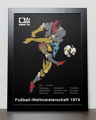 World Cup Fussball ball Deutschland 74 Poster