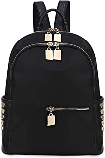XUAN YUAN Backpack - Women's Fashion Simple Oxford Spinning Backpack Multi-function Leisure Large Capacity Travel Bag Waterproof Anti-theft Canvas Wild Zipper Bag backpack